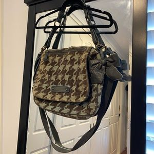 Juicy Couture velour & leather satchel